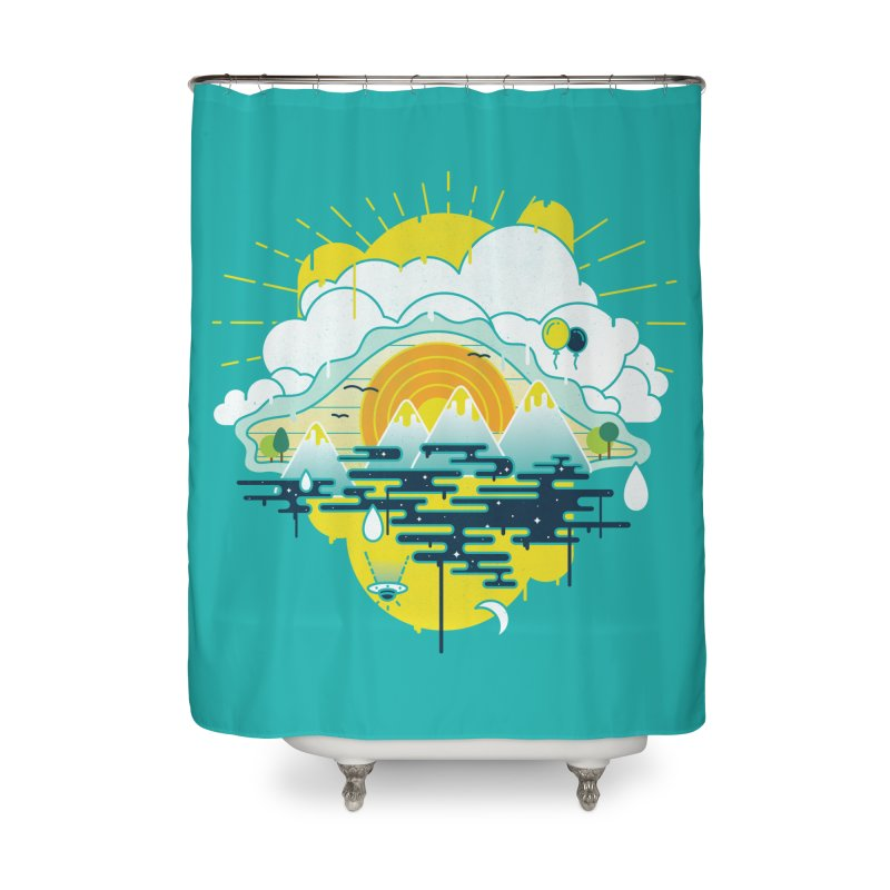Mother nature is watching you Home Shower Curtain by Opippi