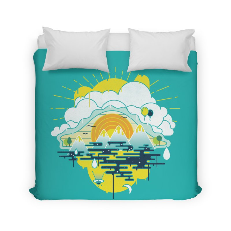 Mother nature is watching you Home Duvet by Opippi