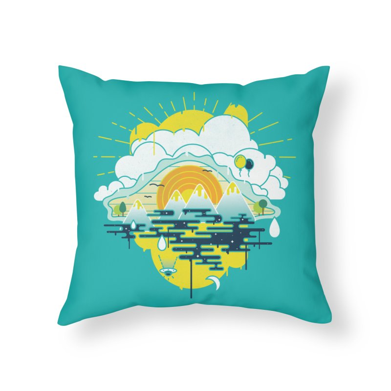 Mother nature is watching you Home Throw Pillow by Opippi