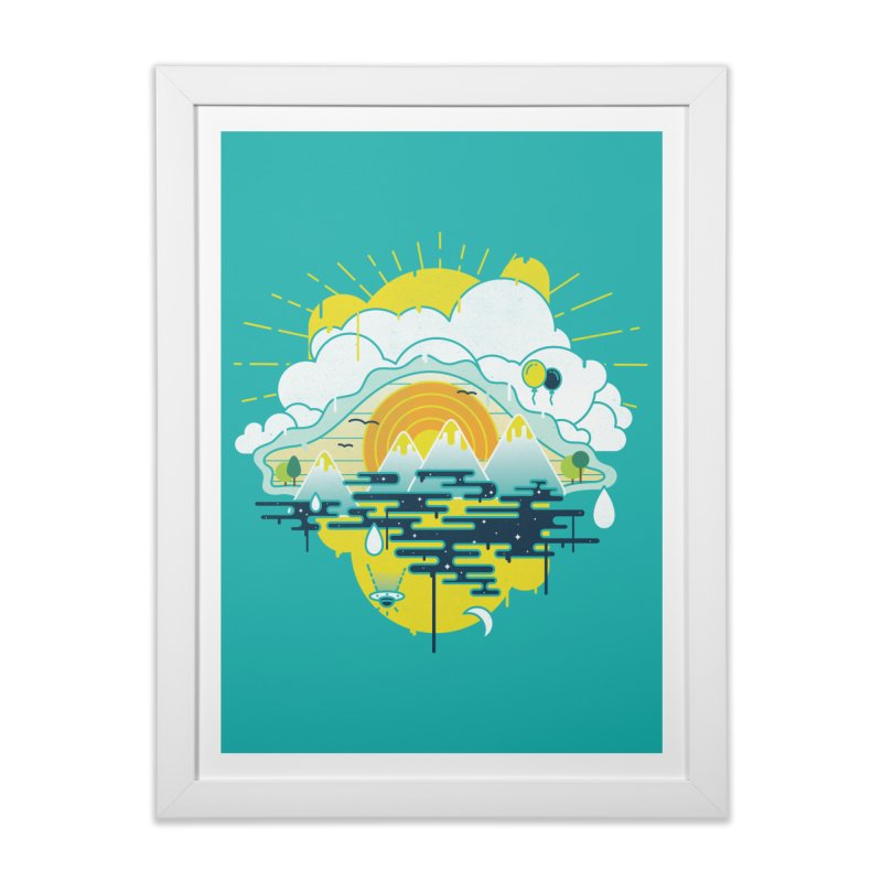 Mother nature is watching you Home Framed Fine Art Print by Opippi