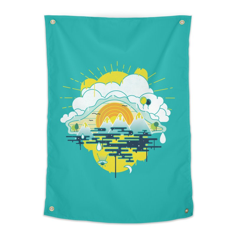 Mother nature is watching you Home Tapestry by Opippi