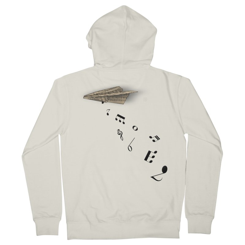 Musical Attack Men's French Terry Zip-Up Hoody by Opippi