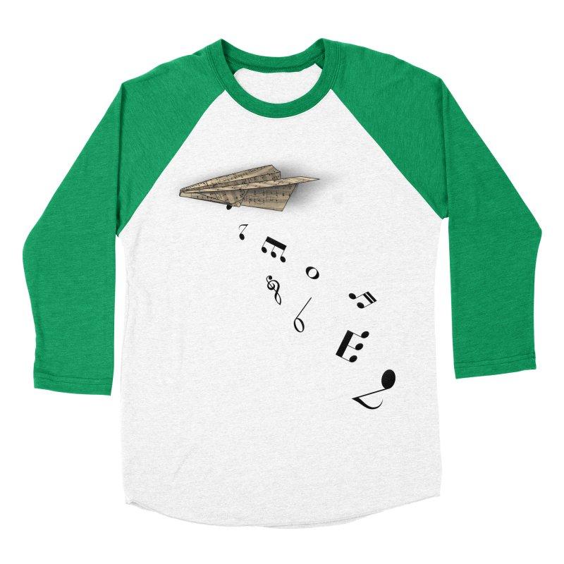 Musical Attack Men's Baseball Triblend T-Shirt by Opippi
