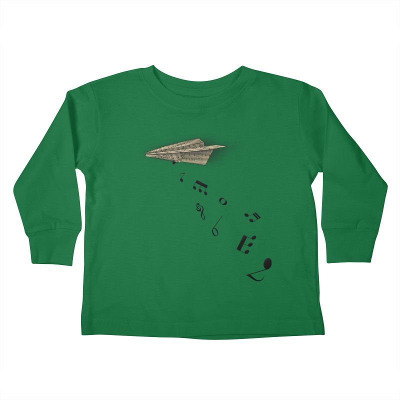 Musical Attack Kids Toddler Longsleeve T-Shirt by Opippi