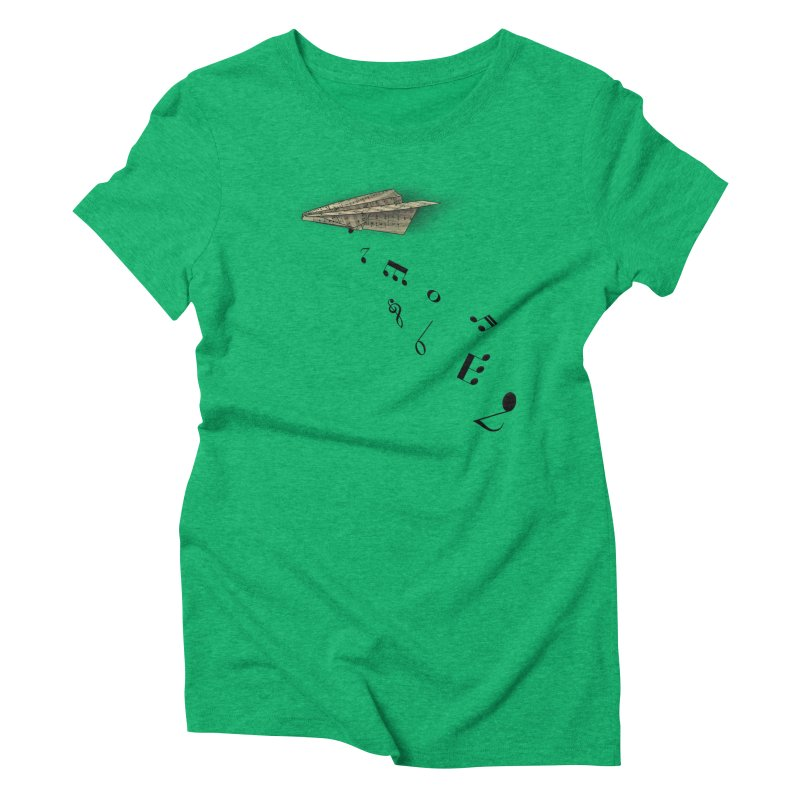 Musical Attack Women's Triblend T-Shirt by Opippi