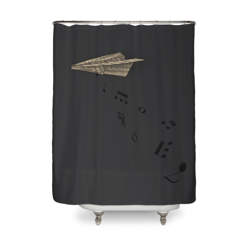 Musical Attack Home Shower Curtain by Opippi