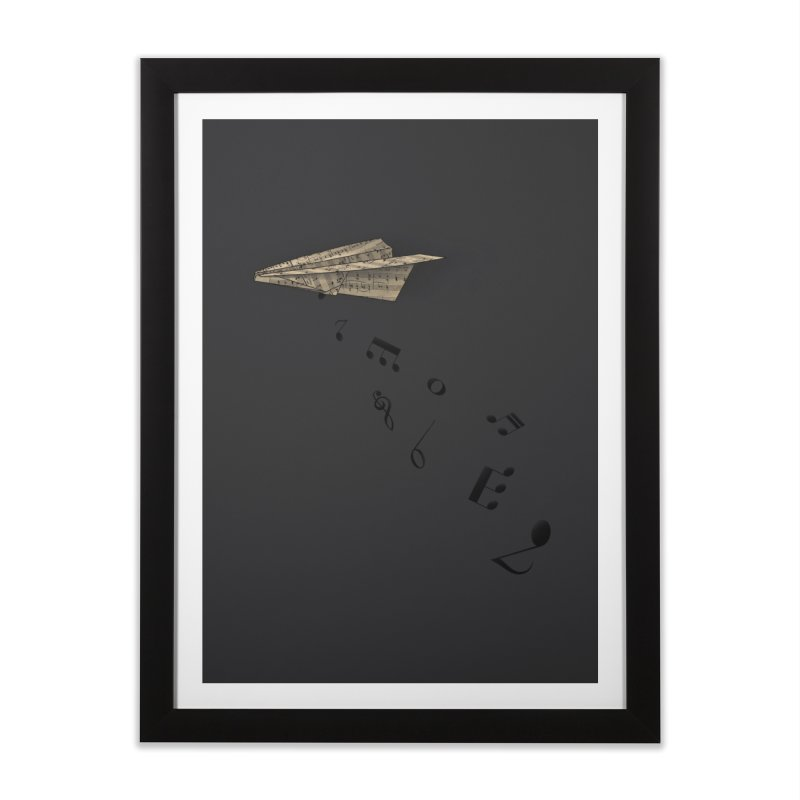 Musical Attack Home Framed Fine Art Print by Opippi