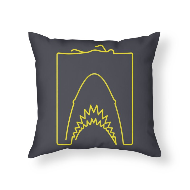 The Swimming Home Throw Pillow by Opippi