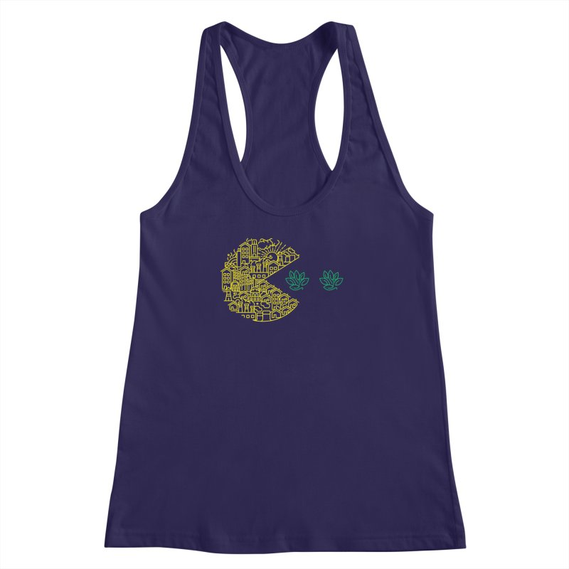 is the game over? Women's Racerback Tank by Opippi