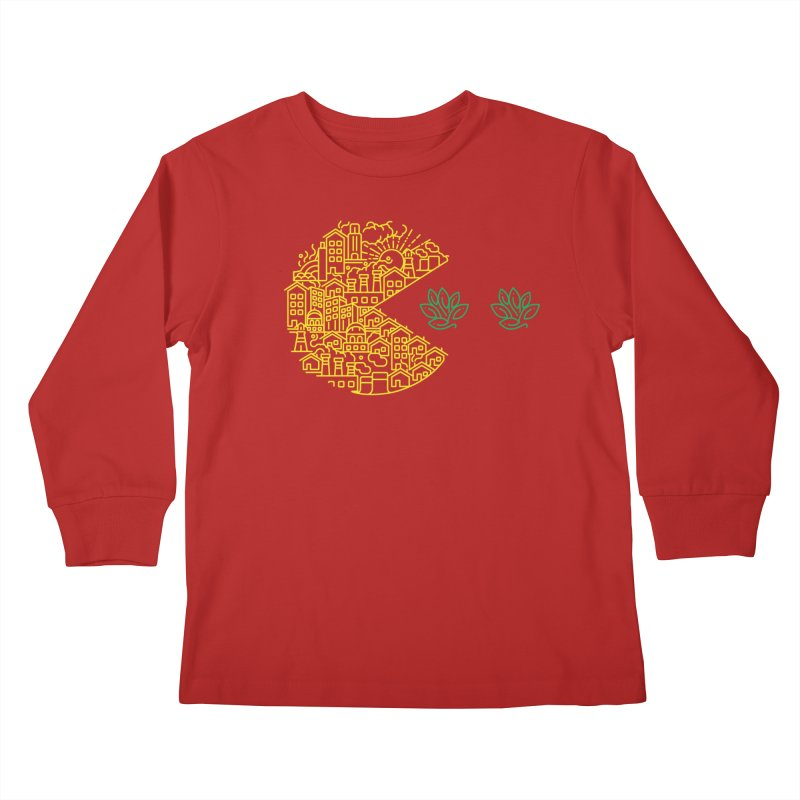 is the game over? Kids Longsleeve T-Shirt by Opippi