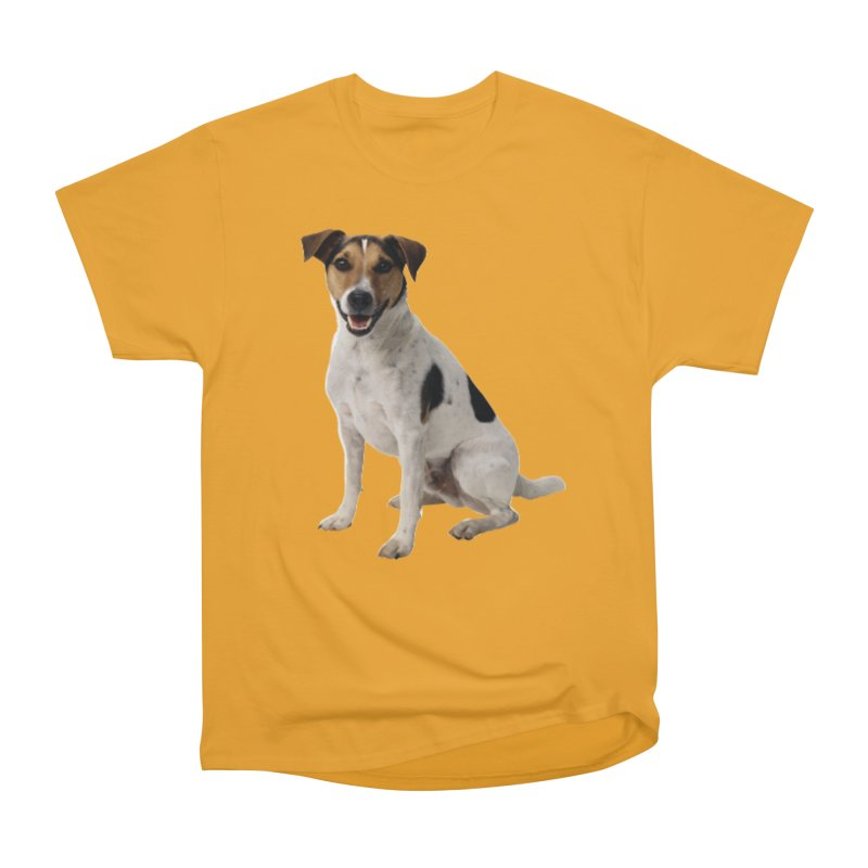 PUPPY 2 in Women's Heavyweight Unisex T-Shirt Gold by THE ORANGE ZEROMAX STREET COUTURE