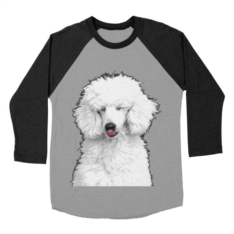 POODLE Women's Baseball Triblend T-Shirt by THE ORANGE ZEROMAX STREET COUTURE