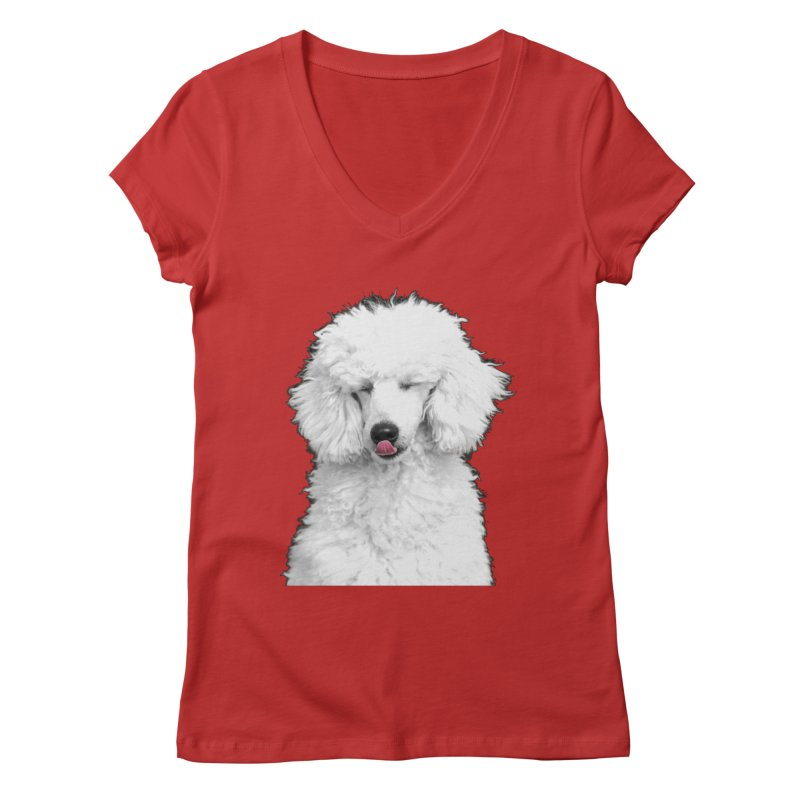 POODLE Women's V-Neck by THE ORANGE ZEROMAX STREET COUTURE