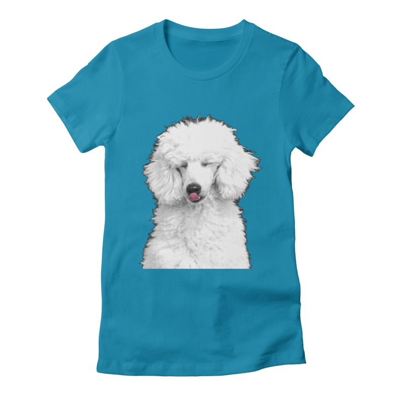 POODLE Women's Fitted T-Shirt by THE ORANGE ZEROMAX STREET COUTURE
