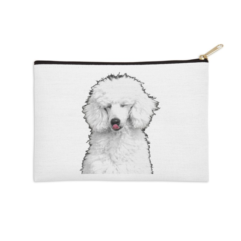 POODLE Accessories Zip Pouch by THE ORANGE ZEROMAX STREET COUTURE