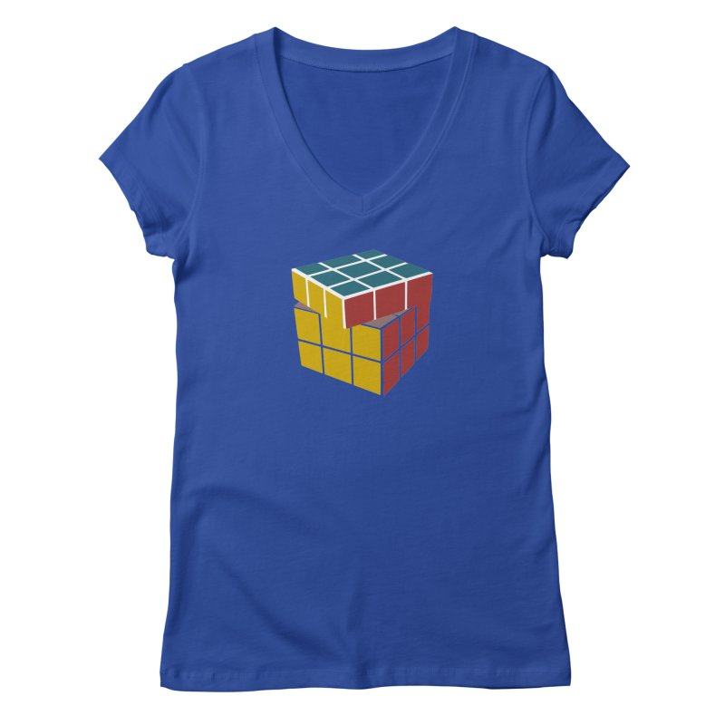 CUBE 2 Women's V-Neck by THE ORANGE ZEROMAX STREET COUTURE
