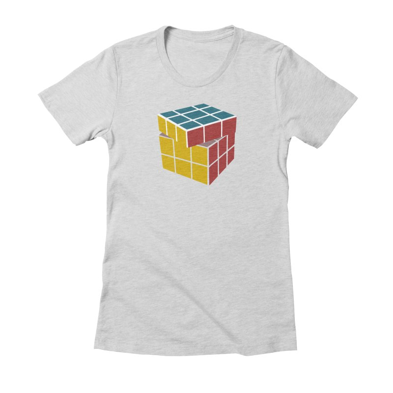 CUBE 2 Women's Fitted T-Shirt by THE ORANGE ZEROMAX STREET COUTURE