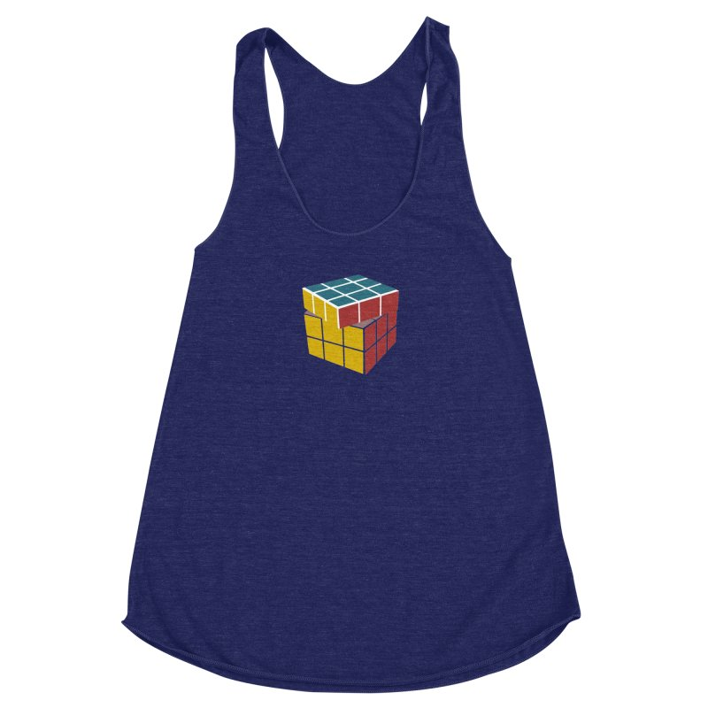 CUBE 2 Women's Racerback Triblend Tank by THE ORANGE ZEROMAX STREET COUTURE