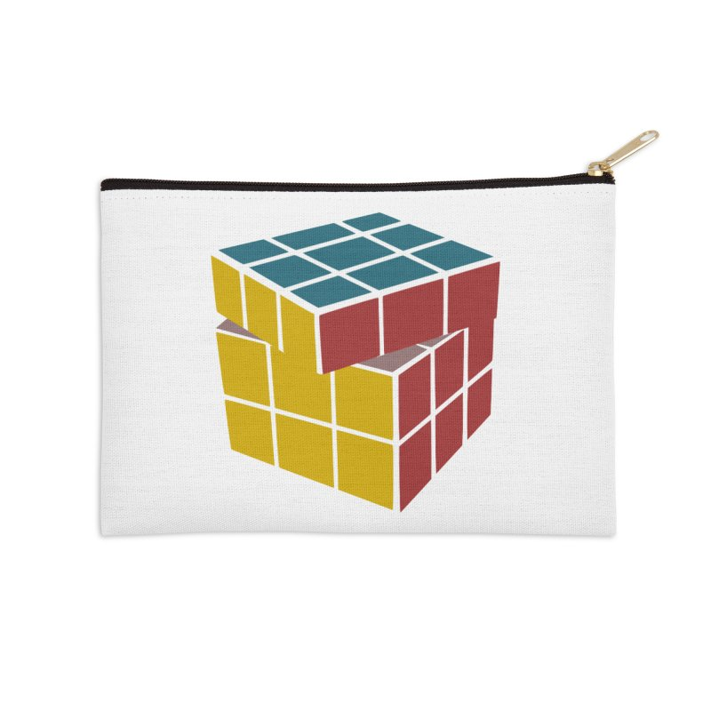 CUBE 2 Accessories Zip Pouch by THE ORANGE ZEROMAX STREET COUTURE