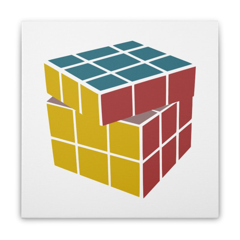 CUBE 2 Home Stretched Canvas by THE ORANGE ZEROMAX STREET COUTURE