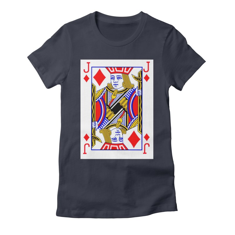 JACK OF DIAMONDS Women's Fitted T-Shirt by THE ORANGE ZEROMAX STREET COUTURE