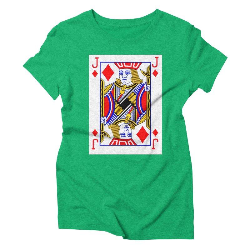 JACK OF DIAMONDS Women's Triblend T-Shirt by THE ORANGE ZEROMAX STREET COUTURE