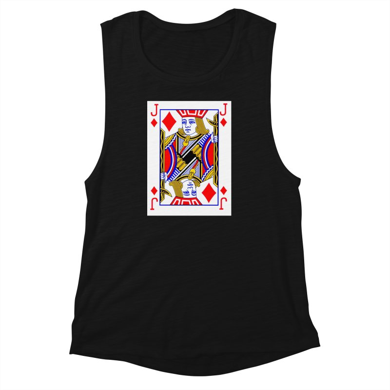 JACK OF DIAMONDS Women's Muscle Tank by THE ORANGE ZEROMAX STREET COUTURE