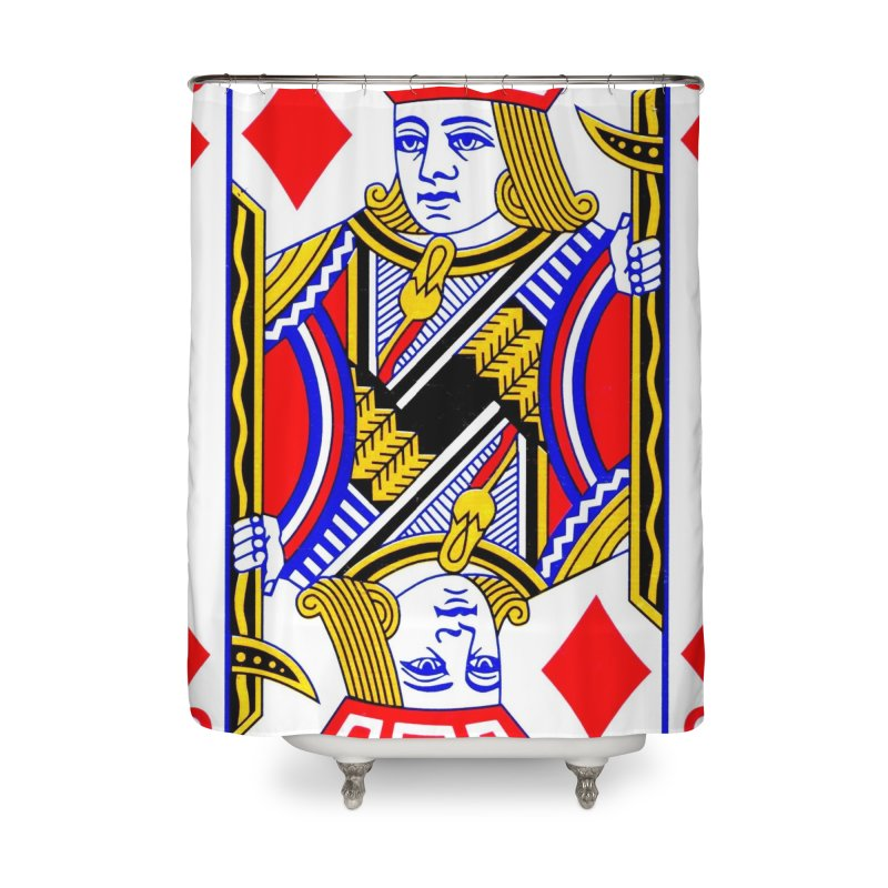 JACK OF DIAMONDS Home Shower Curtain by THE ORANGE ZEROMAX STREET COUTURE
