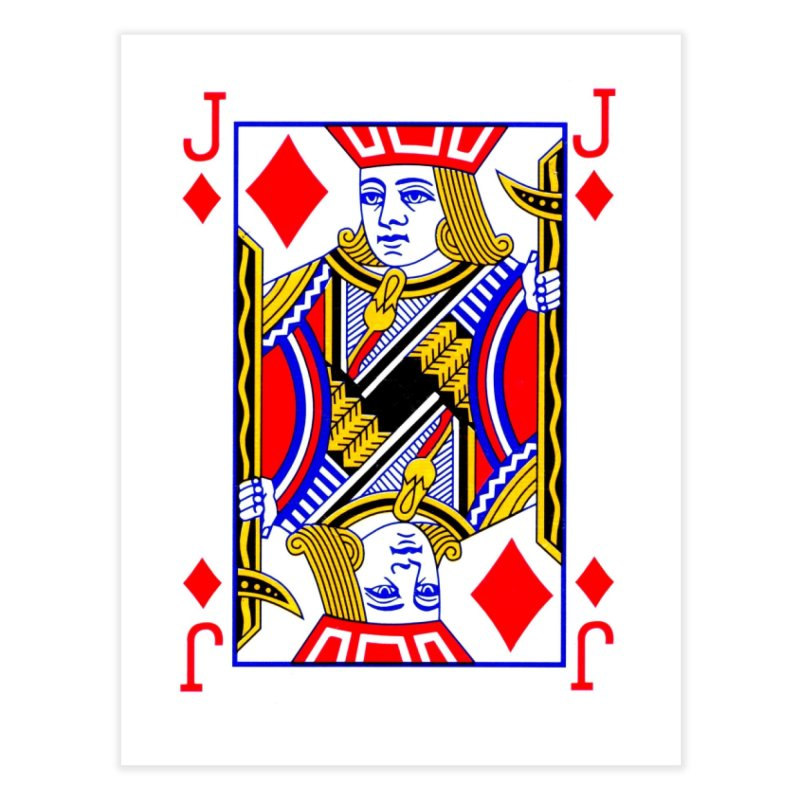 JACK OF DIAMONDS Home Fine Art Print by THE ORANGE ZEROMAX STREET COUTURE