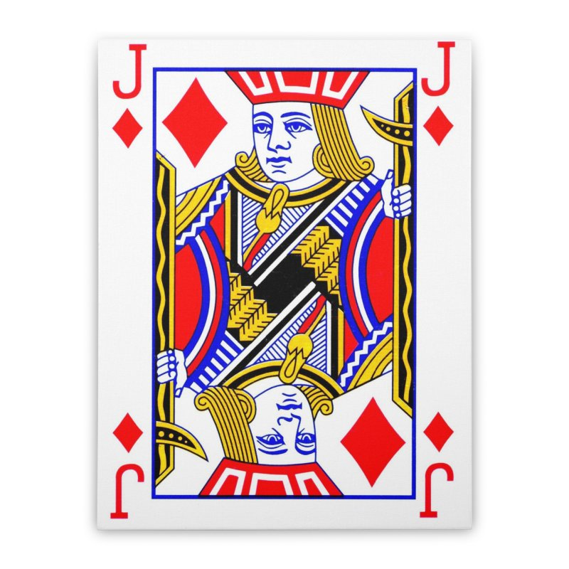 JACK OF DIAMONDS Home Stretched Canvas by THE ORANGE ZEROMAX STREET COUTURE