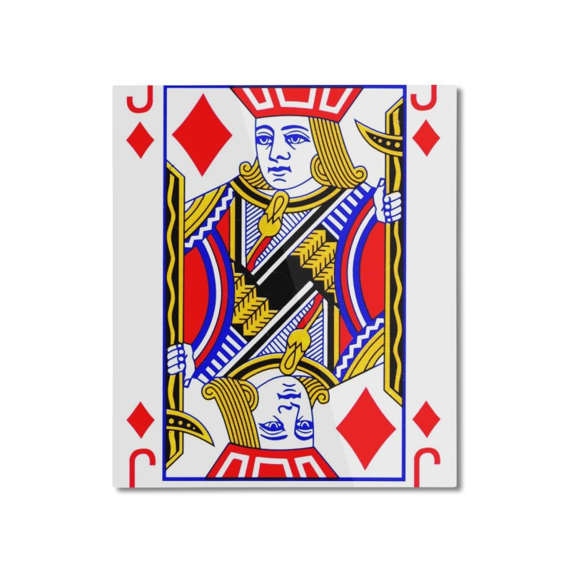 JACK OF DIAMONDS Home Mounted Aluminum Print by THE ORANGE ZEROMAX STREET COUTURE