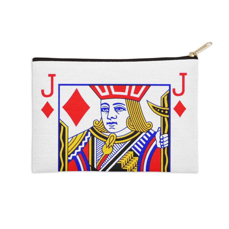 JACK OF DIAMONDS Accessories Zip Pouch by THE ORANGE ZEROMAX STREET COUTURE