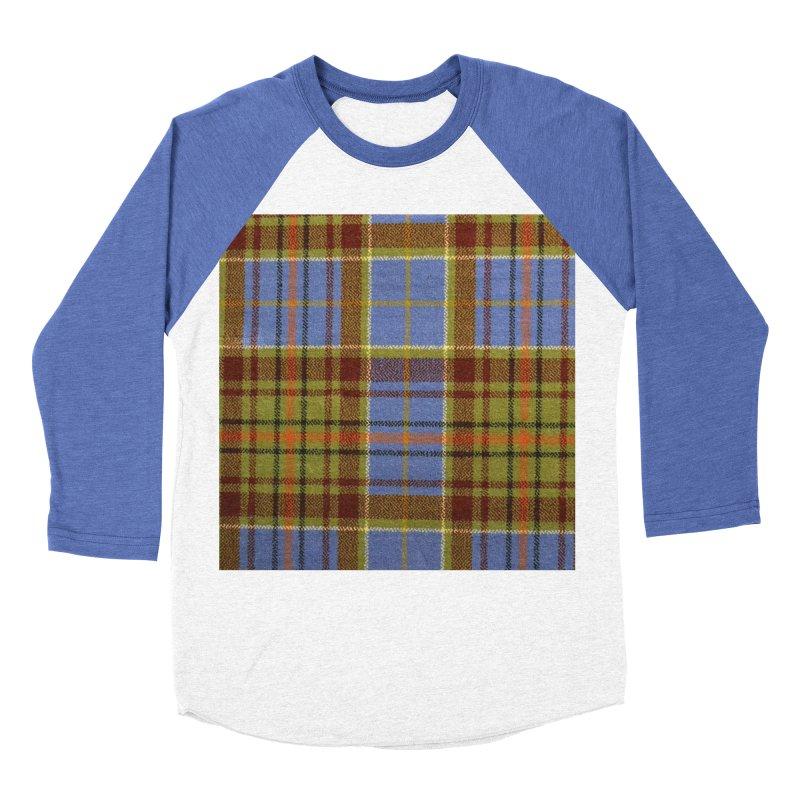 ADAM TARTAN Women's Baseball Triblend Longsleeve T-Shirt by THE ORANGE ZEROMAX STREET COUTURE