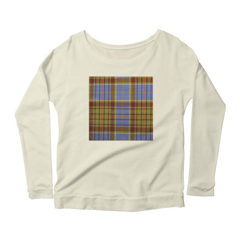 ADAM TARTAN Women's Scoop Neck Longsleeve T-Shirt by THE ORANGE ZEROMAX STREET COUTURE