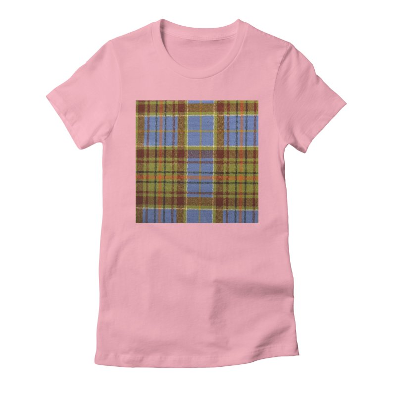 ADAM TARTAN Women's Fitted T-Shirt by THE ORANGE ZEROMAX STREET COUTURE