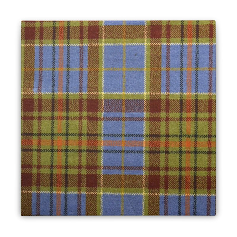 ADAM TARTAN Home Stretched Canvas by THE ORANGE ZEROMAX STREET COUTURE