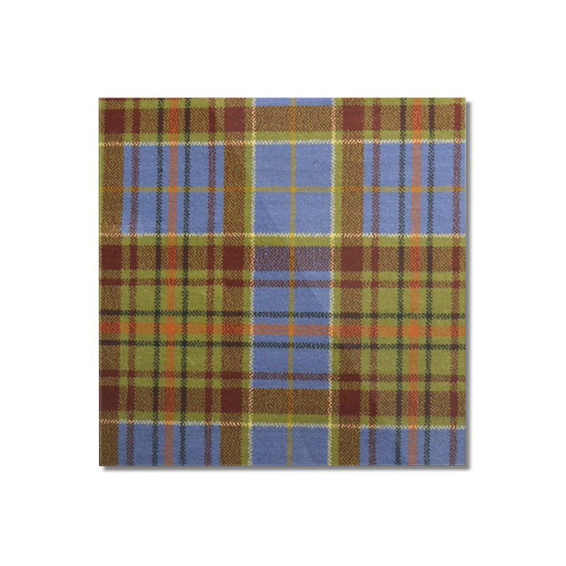ADAM TARTAN Home Mounted Acrylic Print by THE ORANGE ZEROMAX STREET COUTURE