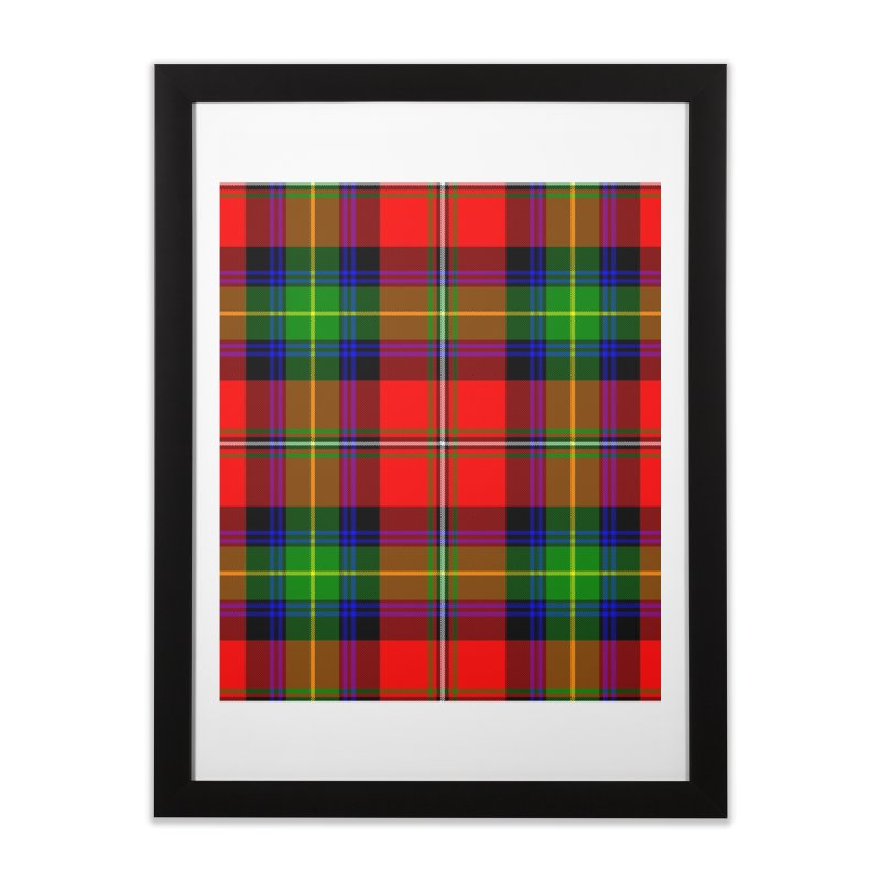 BOYD TARTAN Home Framed Fine Art Print by THE ORANGE ZEROMAX STREET COUTURE