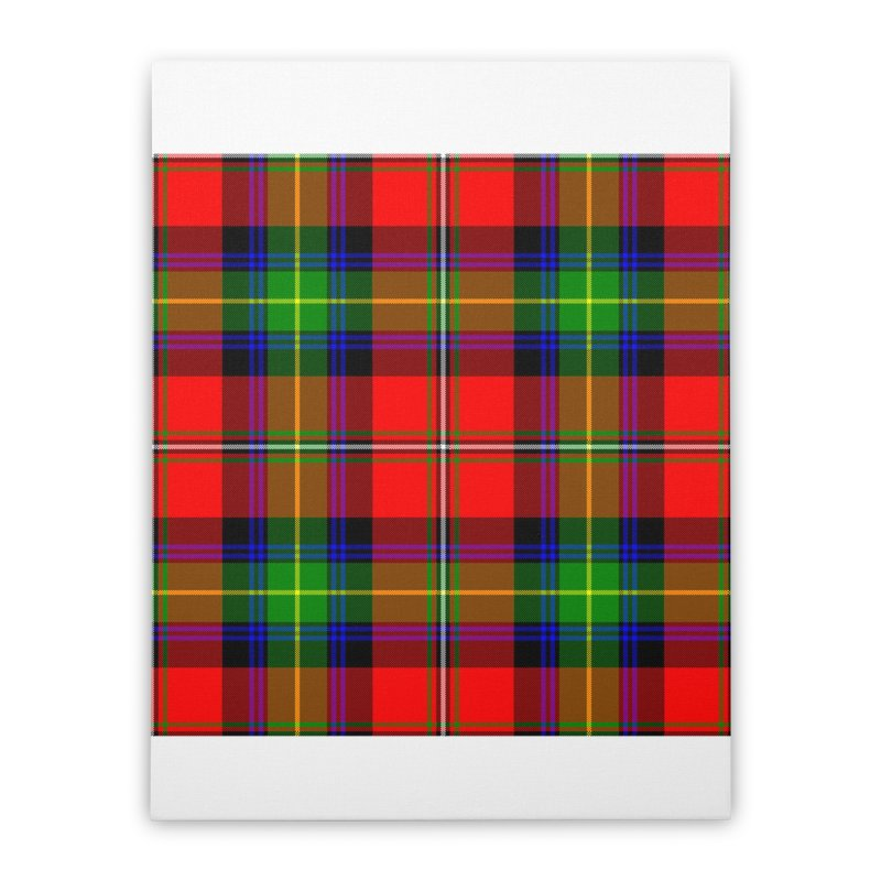 BOYD TARTAN Home Stretched Canvas by THE ORANGE ZEROMAX STREET COUTURE