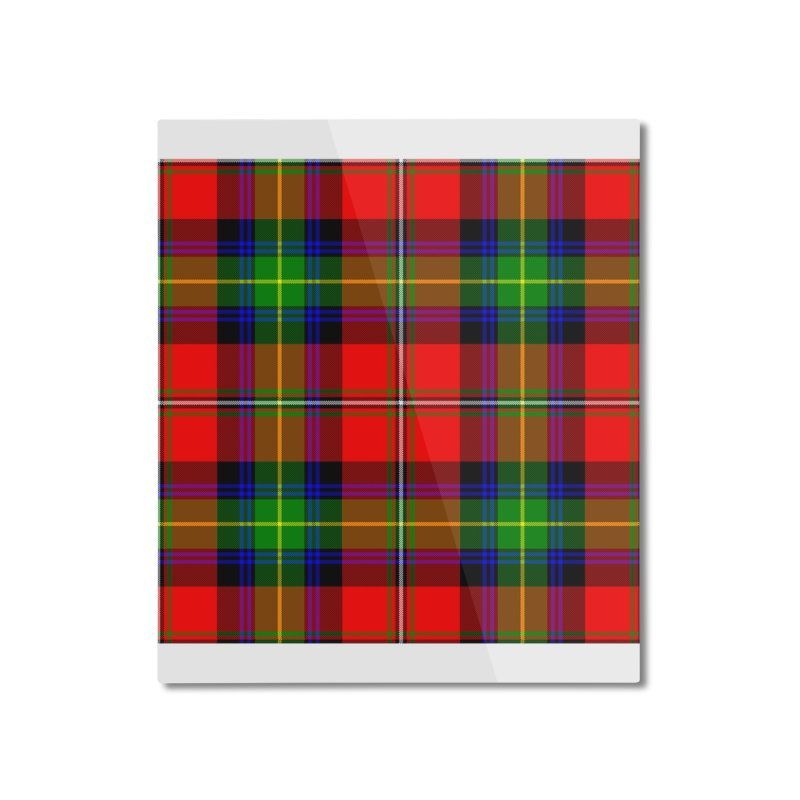 BOYD TARTAN Home Mounted Aluminum Print by THE ORANGE ZEROMAX STREET COUTURE