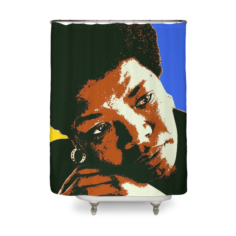 MAYA ANGELOU Home Shower Curtain by THE ORANGE ZEROMAX STREET COUTURE