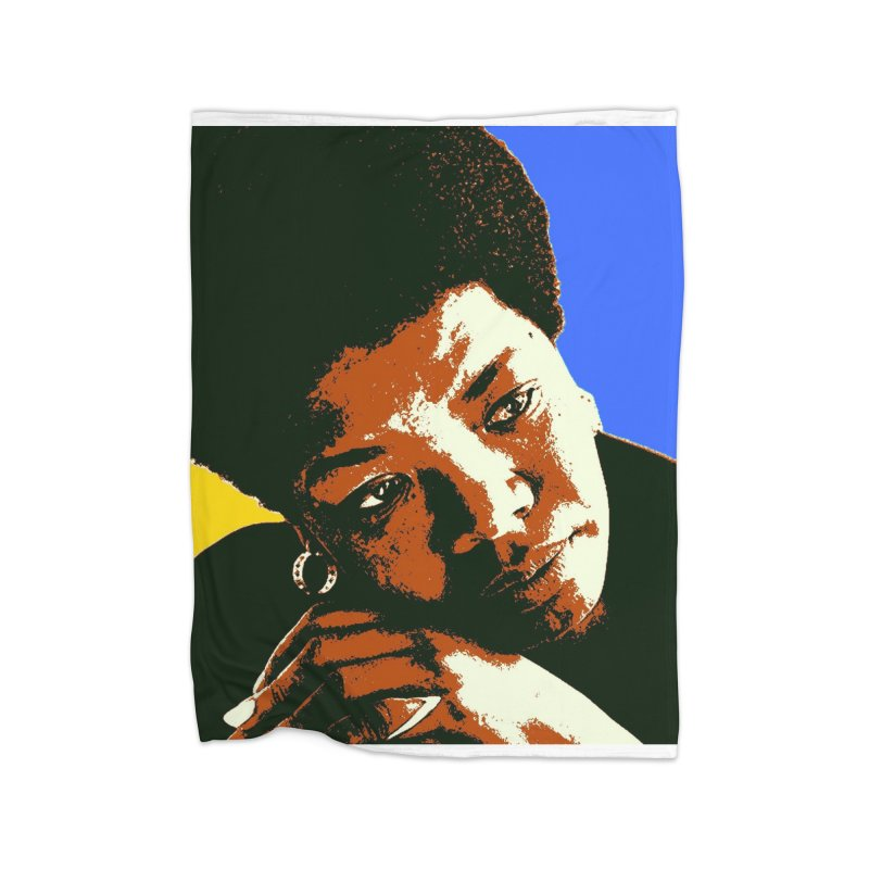 MAYA ANGELOU Home Blanket by THE ORANGE ZEROMAX STREET COUTURE