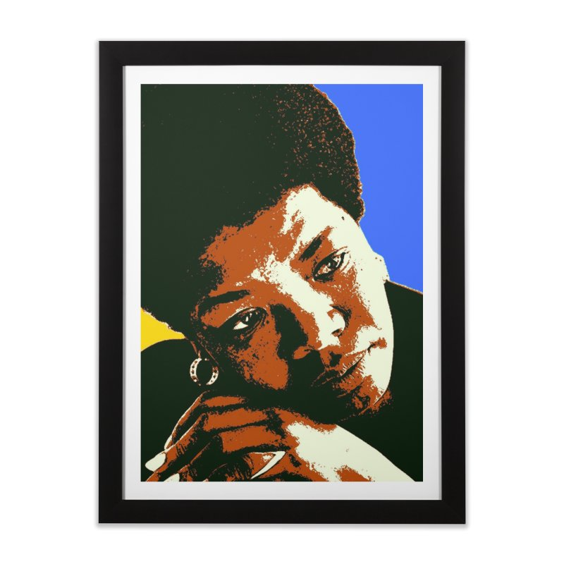 MAYA ANGELOU Home Framed Fine Art Print by THE ORANGE ZEROMAX STREET COUTURE