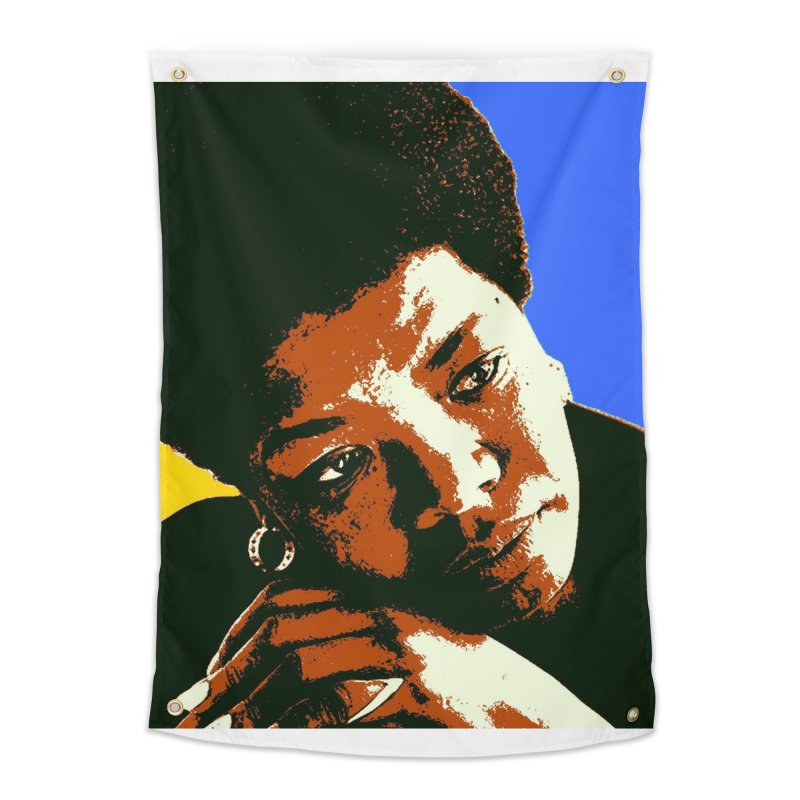 MAYA ANGELOU Home Tapestry by THE ORANGE ZEROMAX STREET COUTURE