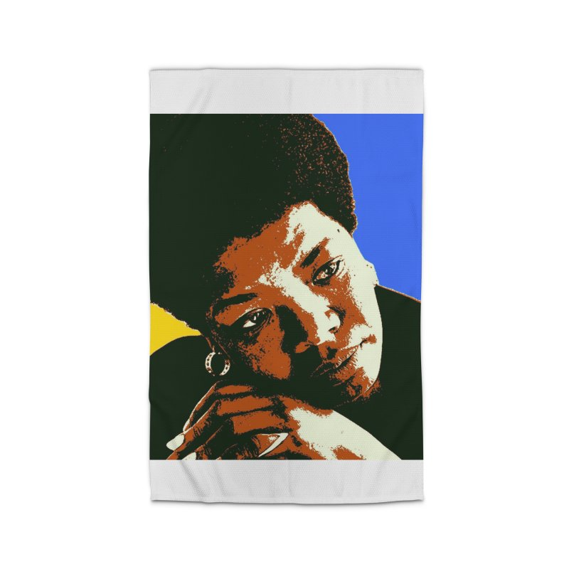 MAYA ANGELOU Home Rug by THE ORANGE ZEROMAX STREET COUTURE