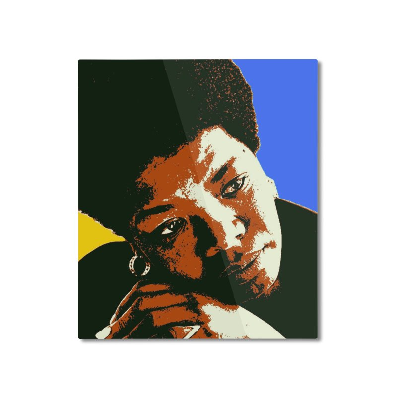 MAYA ANGELOU Home Mounted Aluminum Print by THE ORANGE ZEROMAX STREET COUTURE