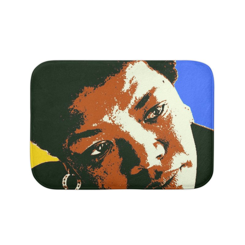 MAYA ANGELOU Home Bath Mat by THE ORANGE ZEROMAX STREET COUTURE