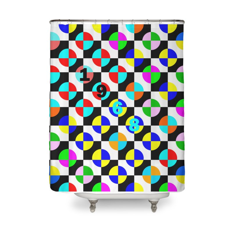 1968 POP DOTS 2 Home Shower Curtain by THE ORANGE ZEROMAX STREET COUTURE