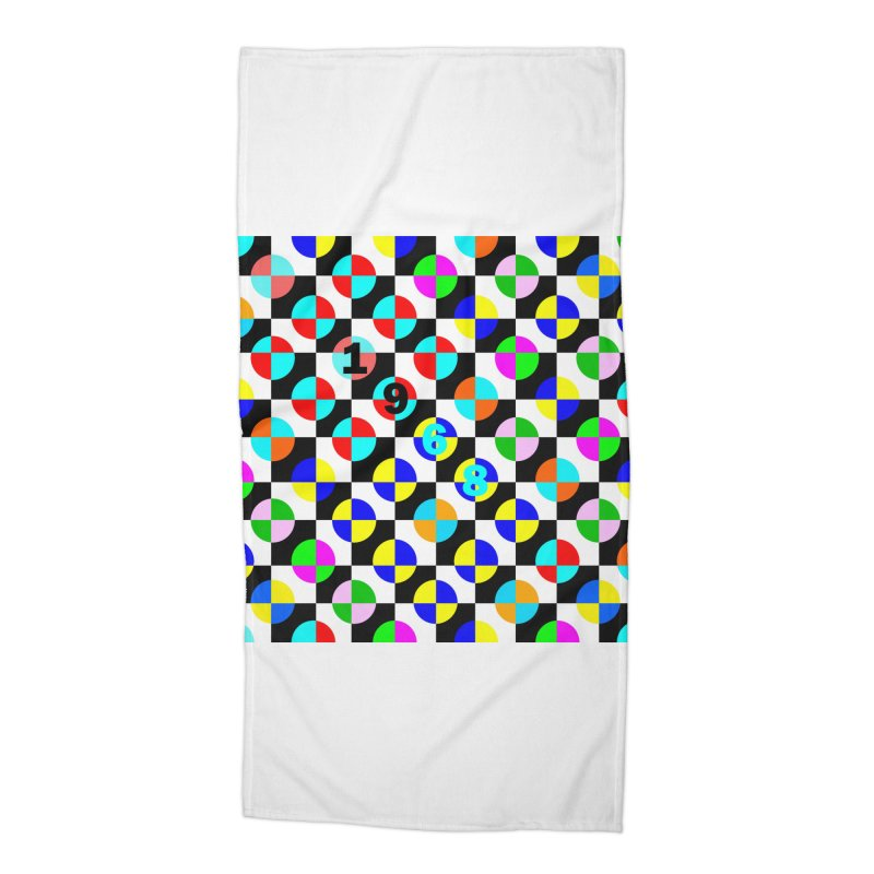 1968 POP DOTS 2 Accessories Beach Towel by THE ORANGE ZEROMAX STREET COUTURE
