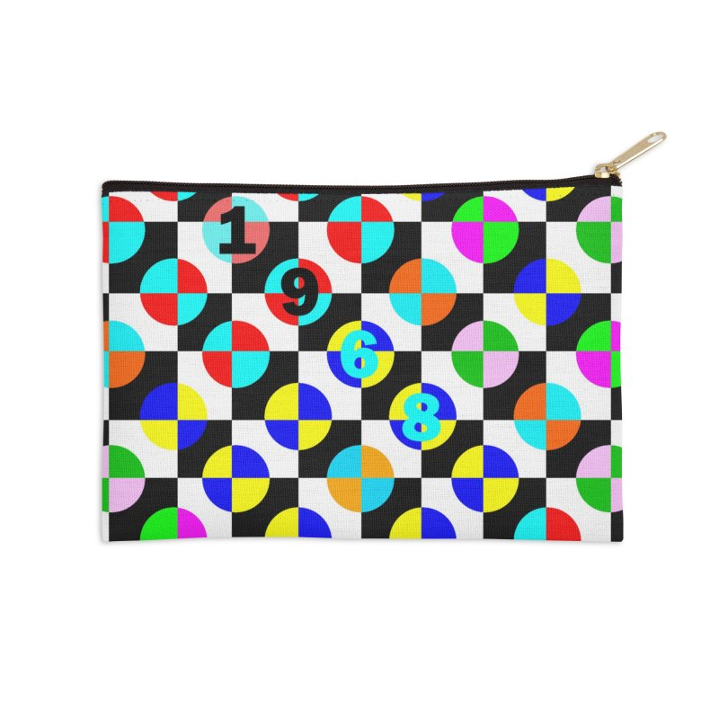 1968 POP DOTS 2 Accessories Zip Pouch by THE ORANGE ZEROMAX STREET COUTURE